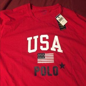 Mens Red Ralph Lauren Polo USA Shirt